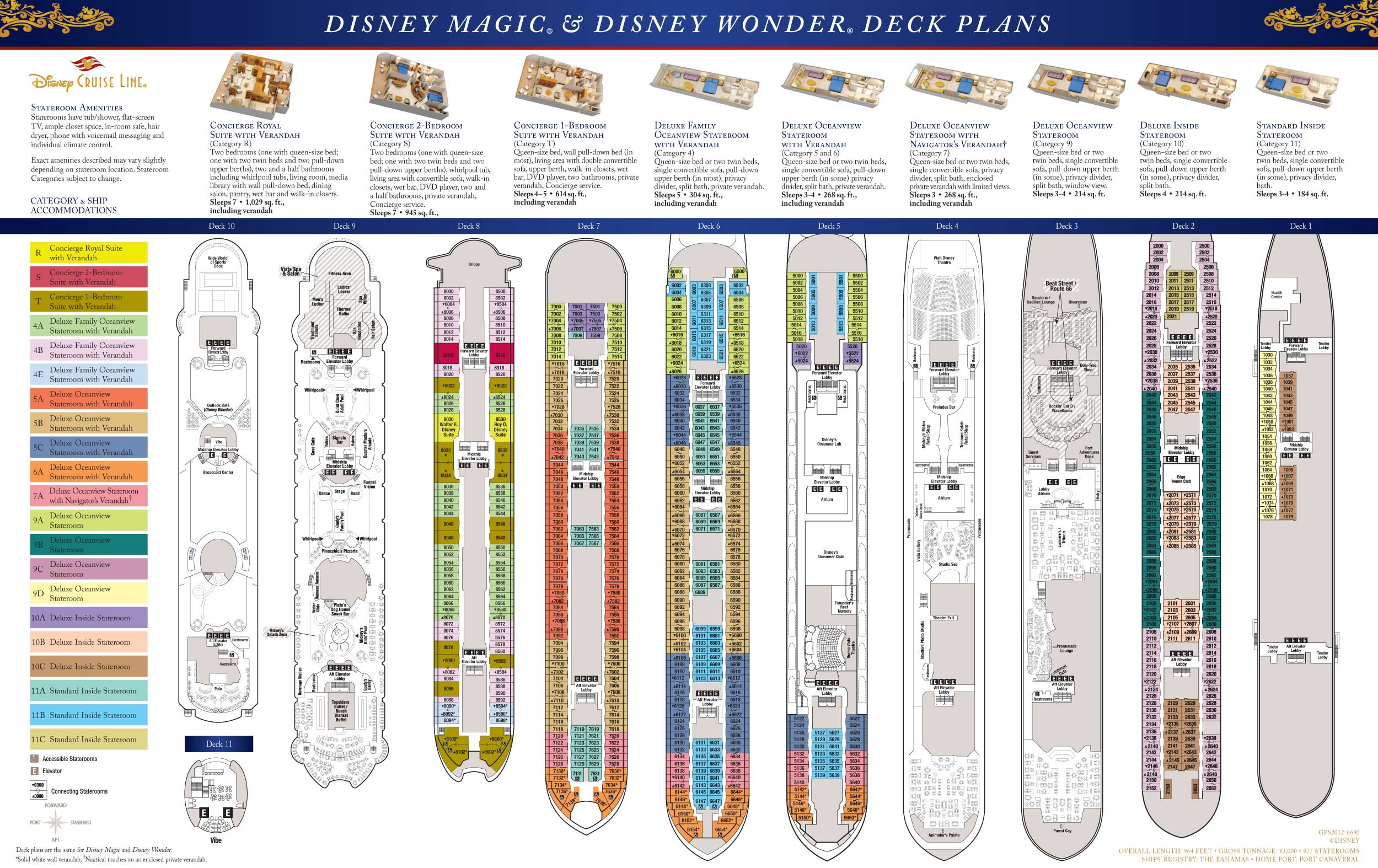 Disney Dreams Deck Plan