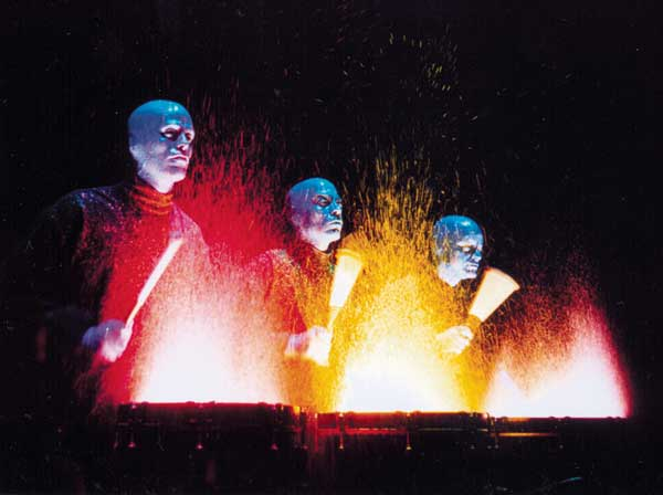 Blue Man Group stage