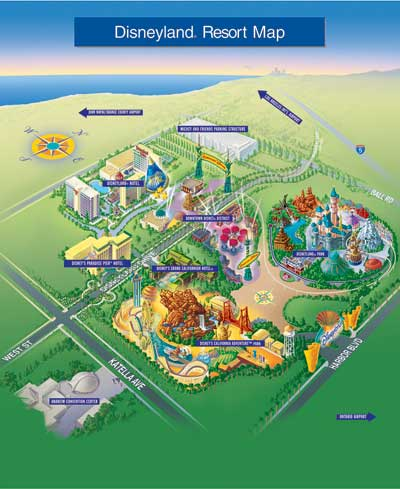 Disneyland Theme Parks Disneyland Park California - Map of amusement parks in the us