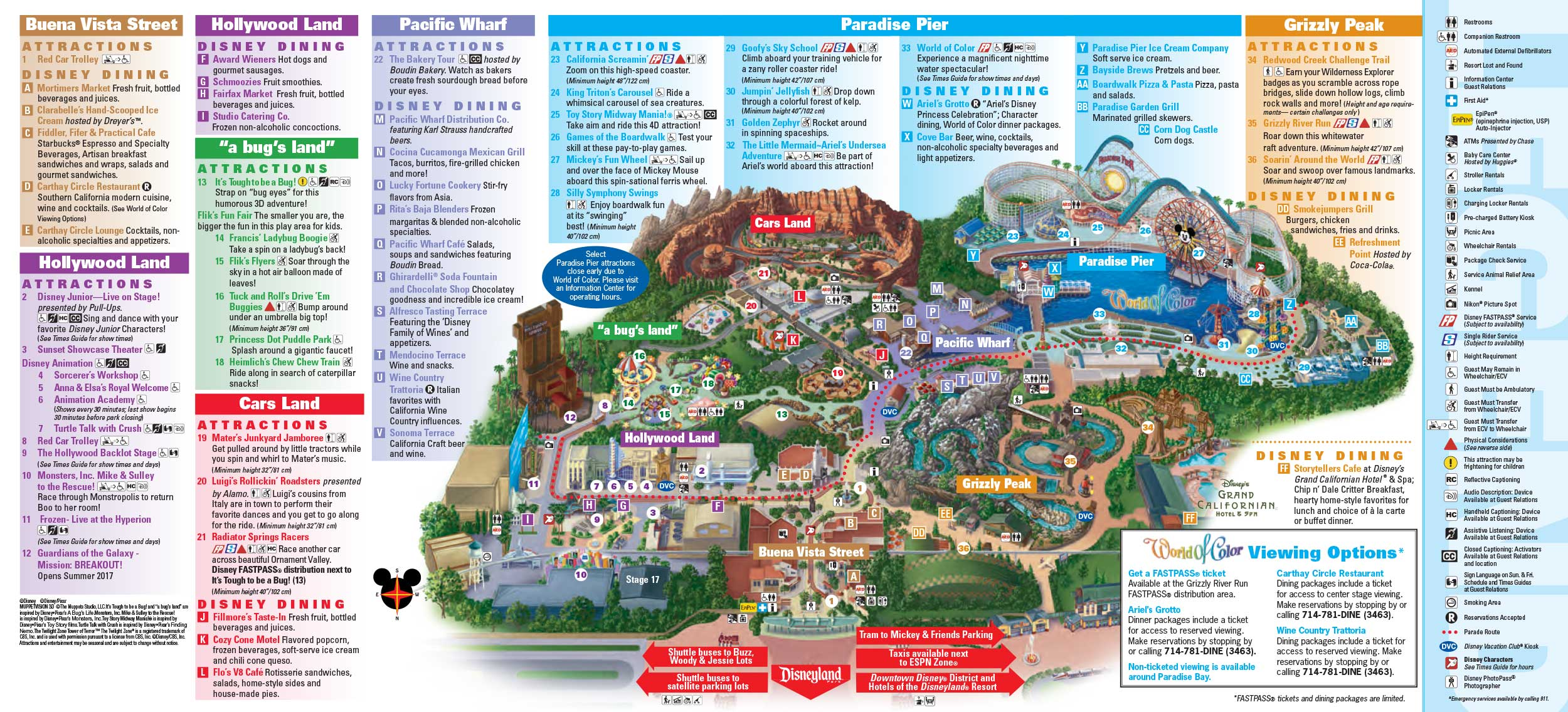 Disneyland Park Map in California Map of Disneyland