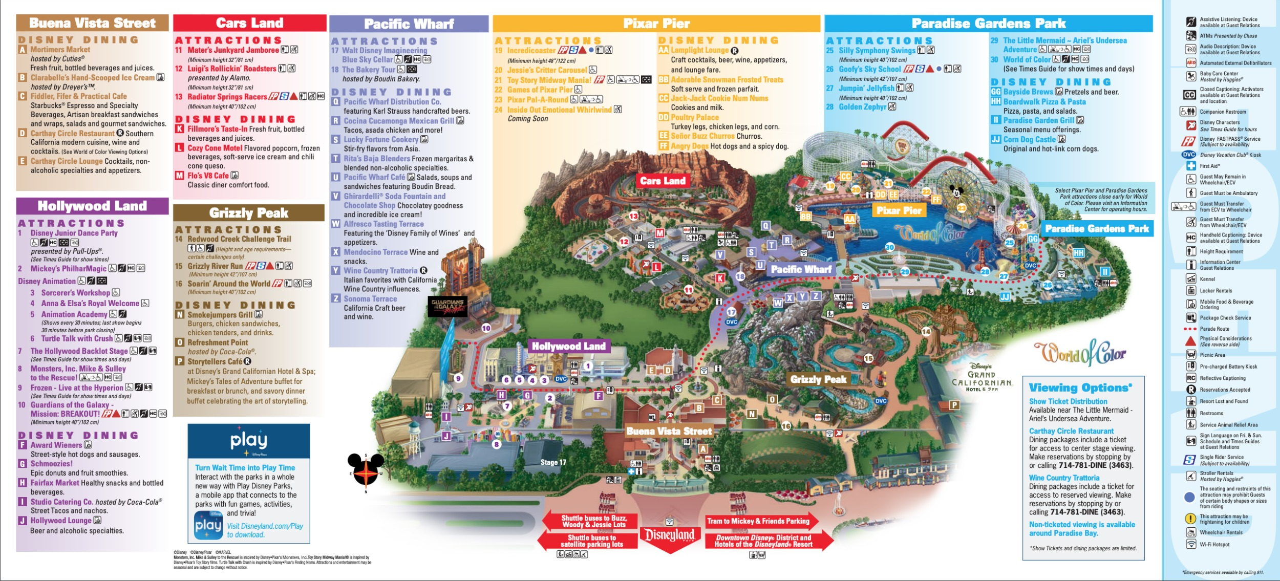 Disneyland Park Map in California, Map of Disneyland on signs map of, blank map of, worksheets map of, easy map of, travel map of, food map of, color map of, pinterest map of, online map of,