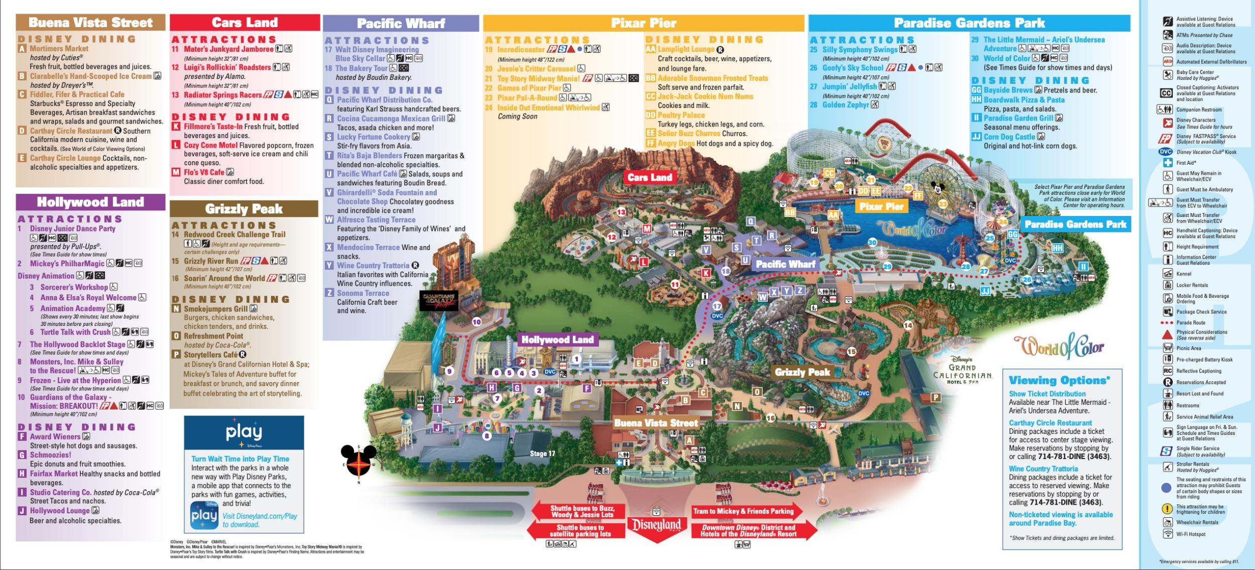 迪士尼加州冒險樂園地圖