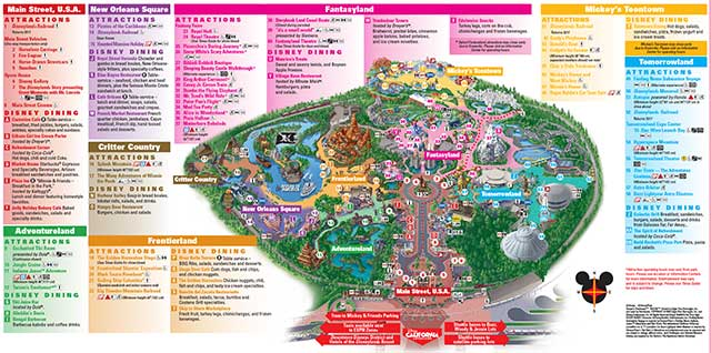 Disneyland Adventure Park Map Disneyland Theme Parks, Disneyland Park California Adventure Disneyland Adventure Park Map