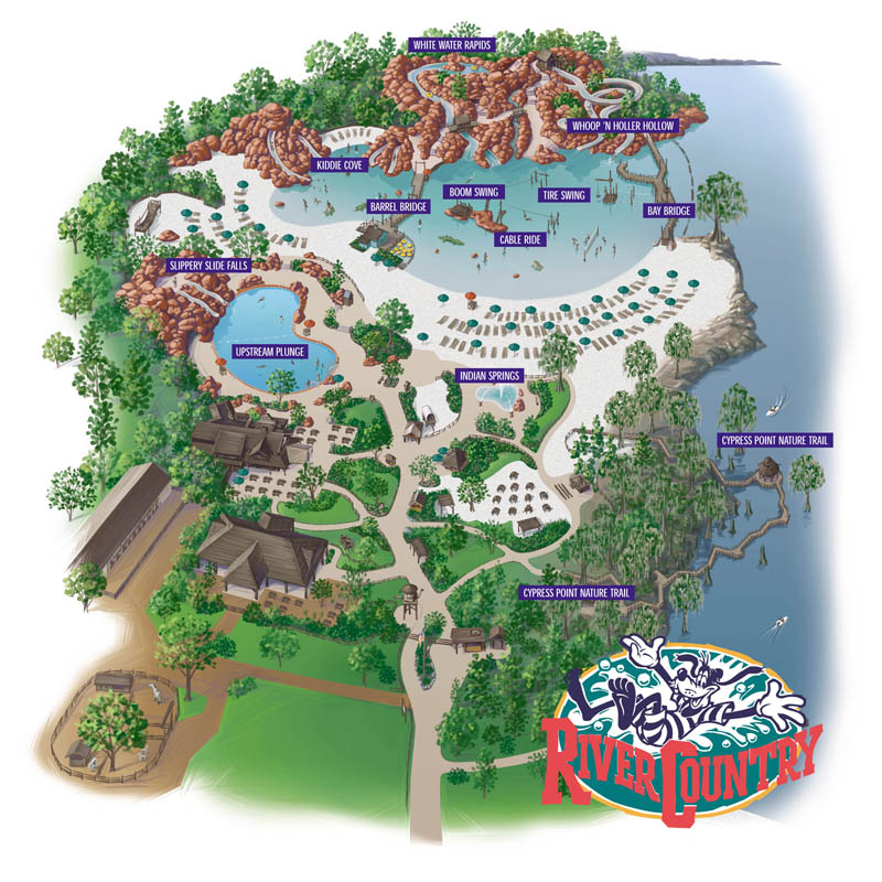River Country Water Park Map - Walt Disney World on