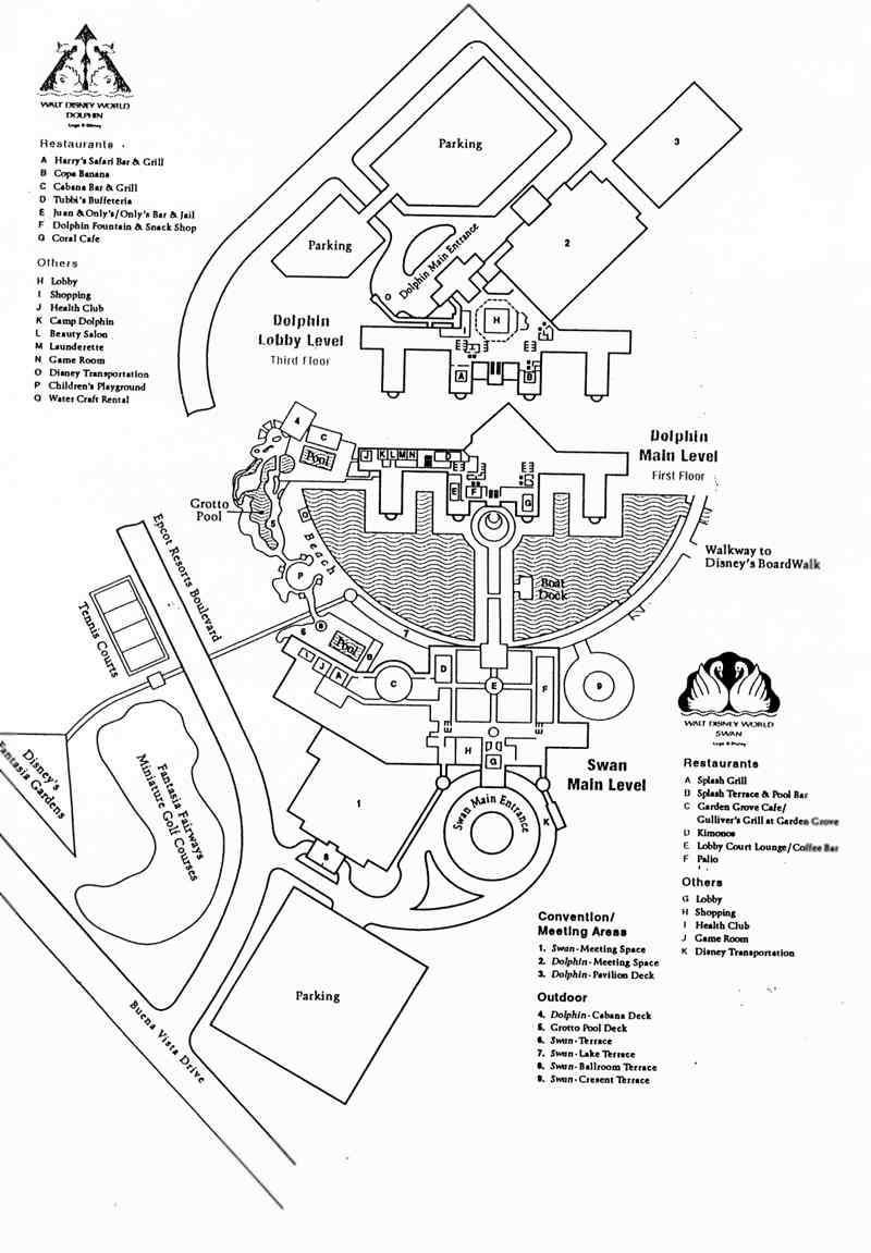 Walt Disney World Swan And Dolphin Hotel Dining And